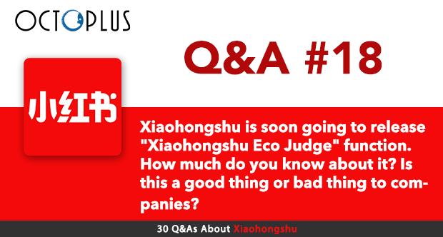 """Xiaohongshu Q&A#18: Xiaohongshu is soon going to release """"Xiaohongshu Eco Judge"""" function. How much do you know about it? Is this a good thing or bad thing to companies? - by OctoPlus Media"""