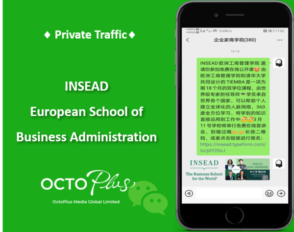 Private Traffic - INSEAD l OctoPlus Media